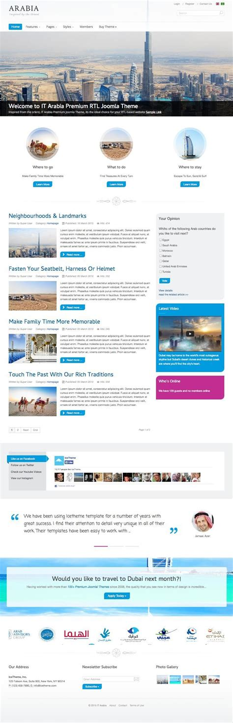 joomla it templates it arabia joomla rtl right to left template for arab