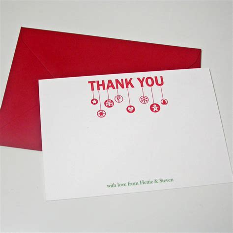 personalised thank you card by moonglow
