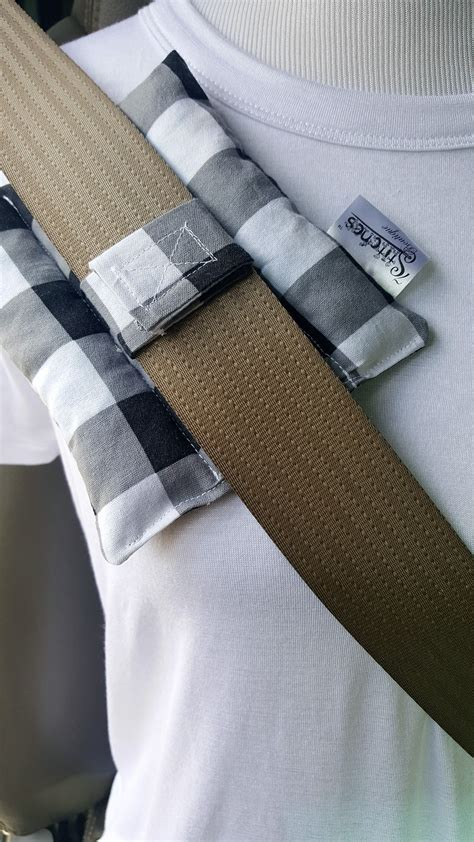 Surgical Pillows by Post Surgical Seatbelt Pillow B W Check 7 Stiches Boutique