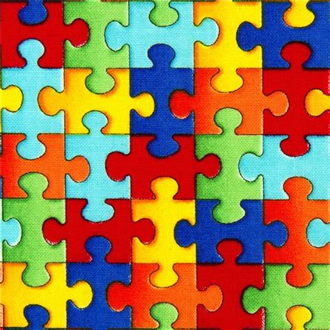 colorful puzzle pieces designer fabric with colourful jigsaw puzzle pieces usa