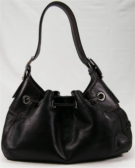 Cole Haan Drawstring Hobo Bag by Cole Haan Black Leather Drawstring Hobo Purse Bag