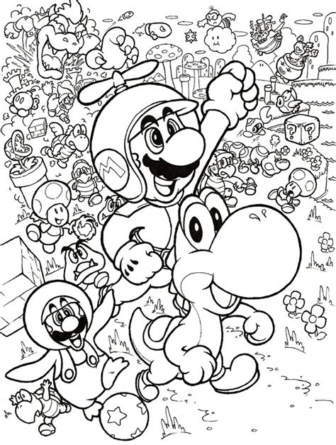 Coloriage Mario 3d Land 224 Imprimer Sur Coloriages Info
