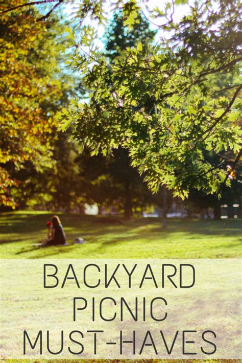 backyard picnic must haves spark