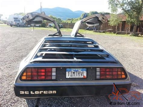 1981 delorean with flux capacitor