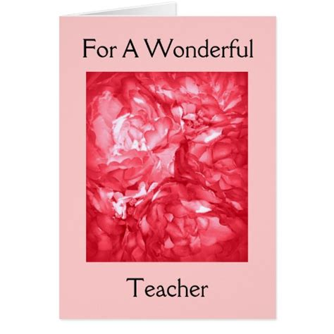 Happy Birthday Greeting Cards For Teachers Happy Birthday For A Teacher Cards Zazzle