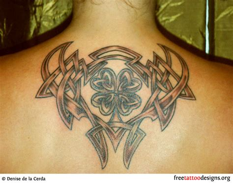 tribal clover tattoo 77 tattoos shamrock clover cross claddagh