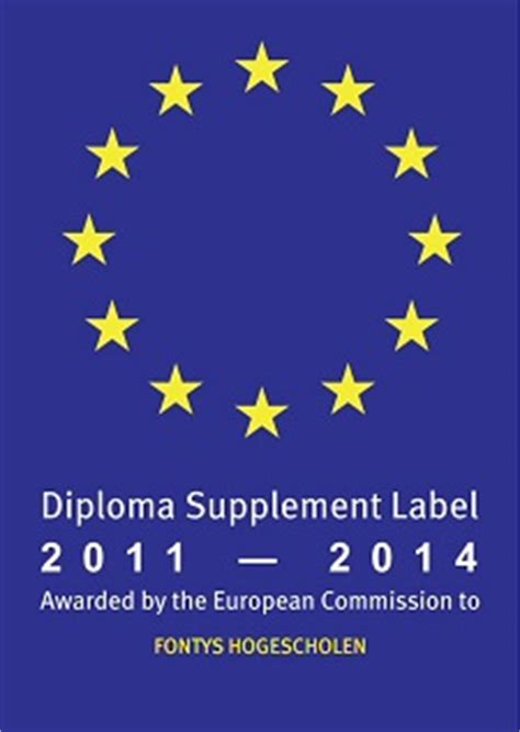 supplement of 42 degrees diploma supplement fontys