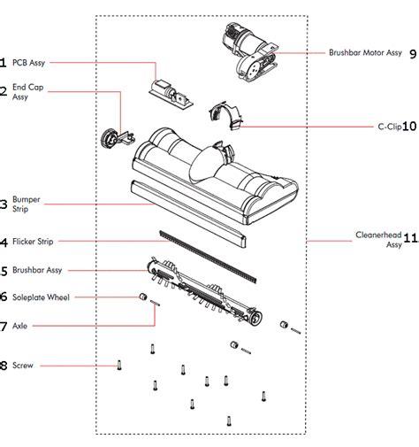 dyson vacuum parts diagram dyson dc24 partswarehouse