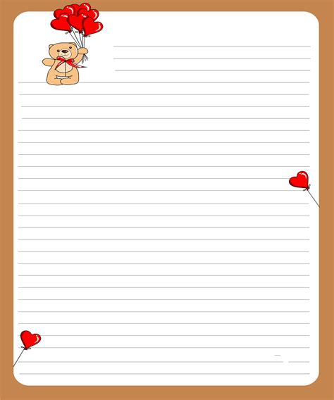 Love Letter Template Archives Sle Letter Letter Template Free