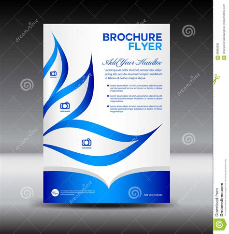 brochure flyer leaflet layout design template stock blue brochure flyer template newsletter design leaflet