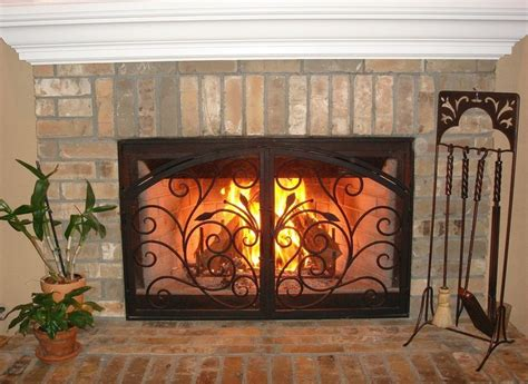 arched inside rectangle fireplace doors san diego