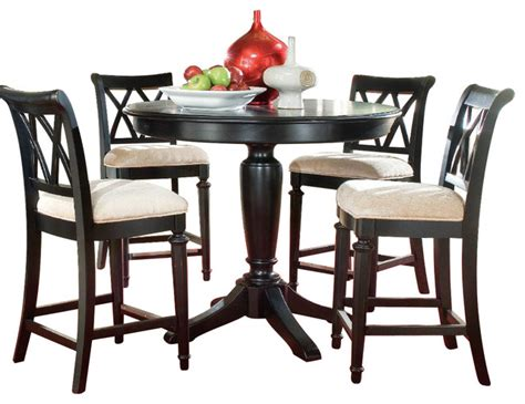 bar height dining room sets american drew camden dark 5 piece bar height ped dining
