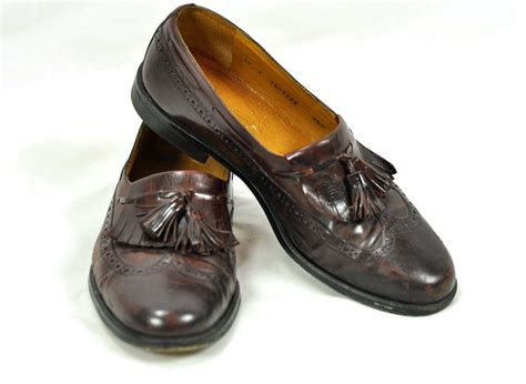 vintage loafers vintage mens loafers tassels brown leather by armorofmodernmen