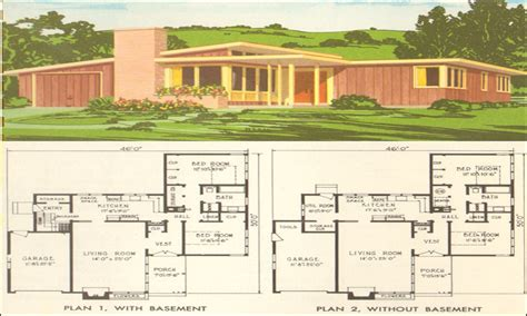 mid century home plans mid century modern home plans home design