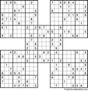 Samurai sudoku puzzles print quotes
