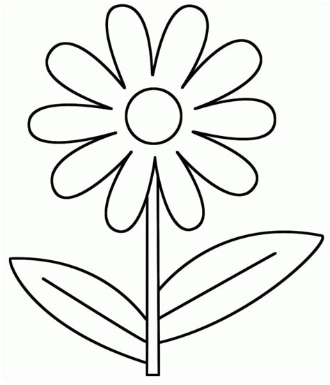 flower coloring pages 2 year old stuff pinterest