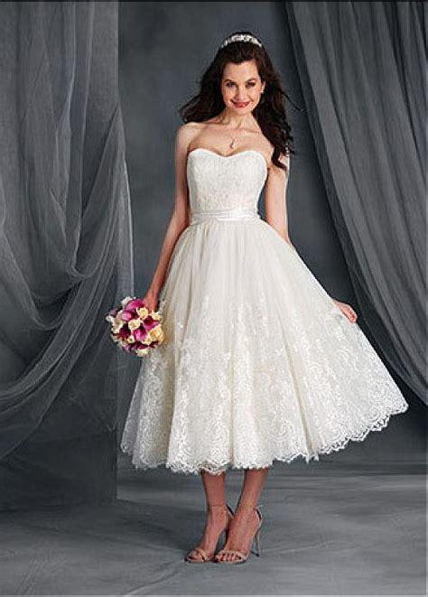 Informal Wedding Dresses Tea Length