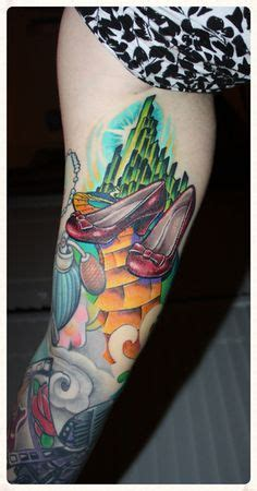 emerald city tattoo wizard of oz done by justin mullins at outta line