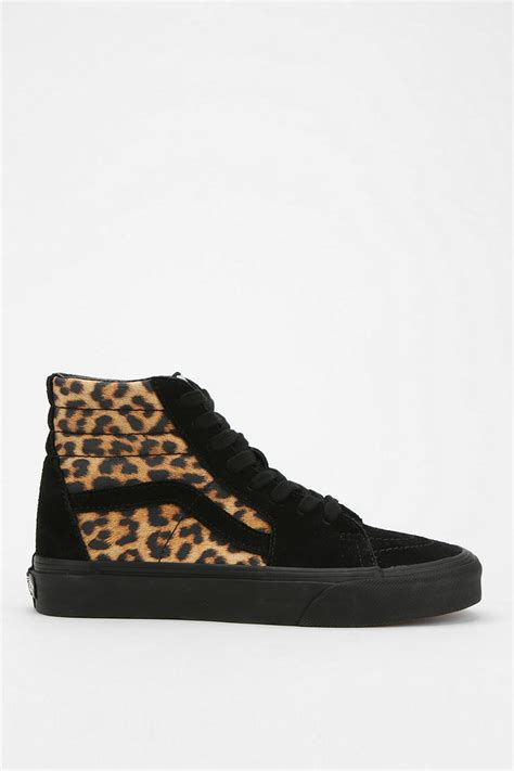 lyst urban outfitters vans sk  leopard print womens