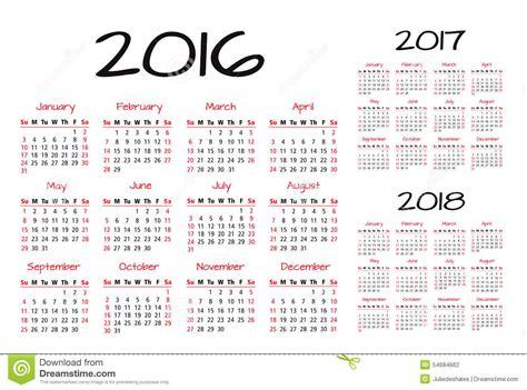 english calendar 2016 design stock vector image 61777684 english calendar 2016 2017 2018 vector illustration stock