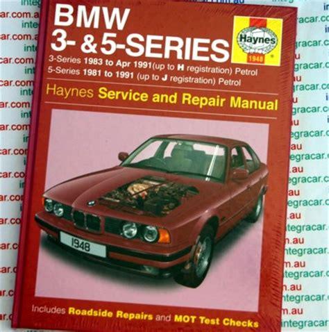 haynes owners workshop car manual bmw 3 5 series bmw 3 series 1983 1991 and bmw 5 series 1981 to 1991 haynes repair manual new workshop car