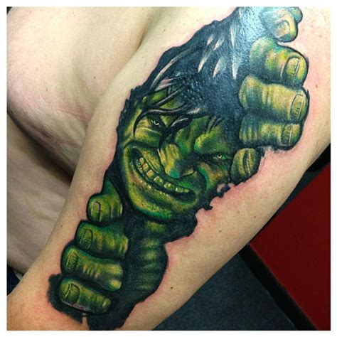 hulk tattoos 14 images pictures and ideas
