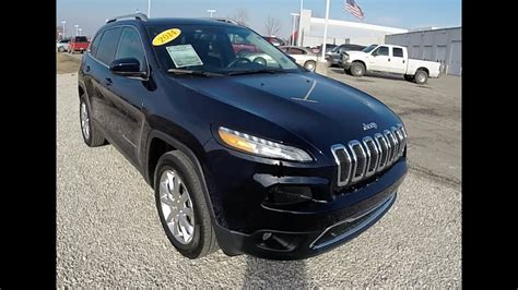 jeep cherokee limited  black small suv crossover style p offroad trendz