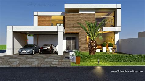 House 2016 3d front elevation com beautiful contemporary house