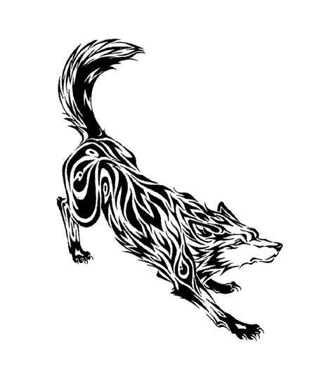tribal wolf tattoos vintage tattoos galleries tribal wolf