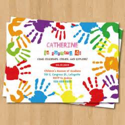 arts and crafts hand prints birthday party by