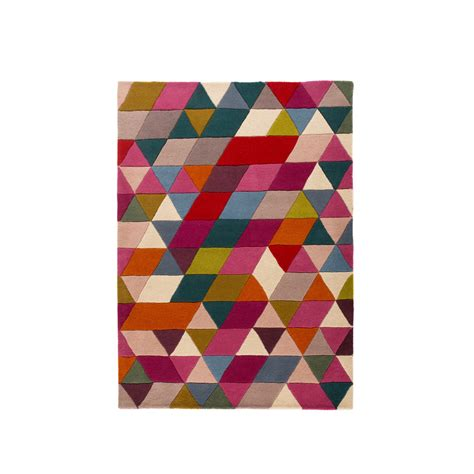 flair rugs illusion prism triangle pattern cut wool