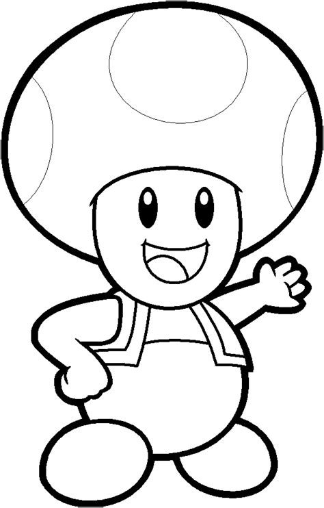 mario toad coloring pages az coloring pages