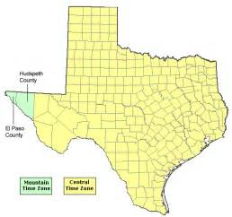 Texas Time Zone Map by Texas Time Zone