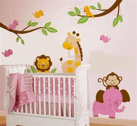 Nursery Wall Decorations Jungle Wall Decor For Nursery Palmyralibrary Org