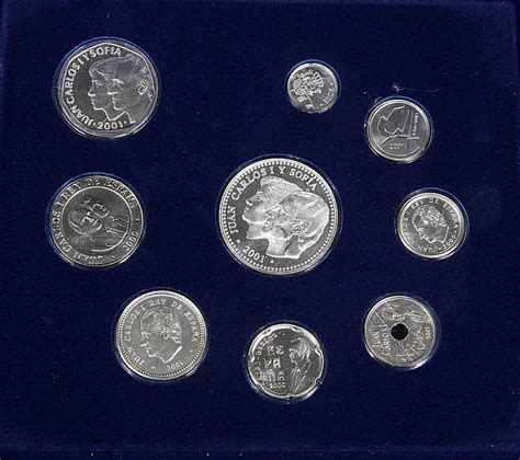 Tas Coin Miniso Original collection of nine of the last pesetas of tender in s