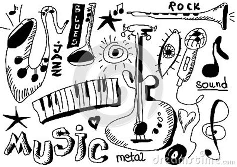 the sonars musical doodle free doodles musical instruments isolated on black