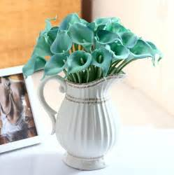 Artificial Decorations by Wholesale Mini Bule Calla Artificial Real Touch