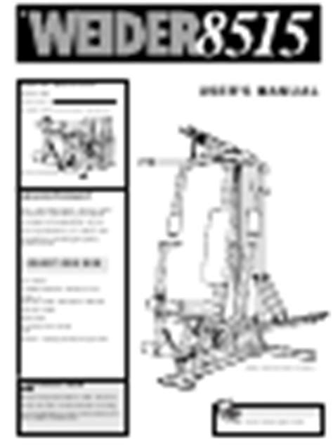 weider weevsy87210 user manual pdf