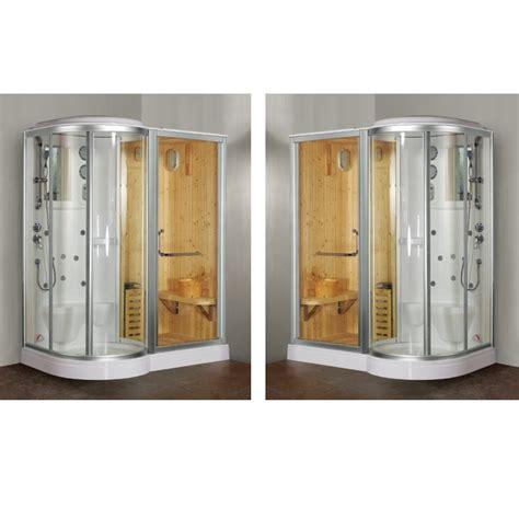cabina doccia con bagno turco box doccia idromassaggio 168x95cm con sauna e cromoterapia vi