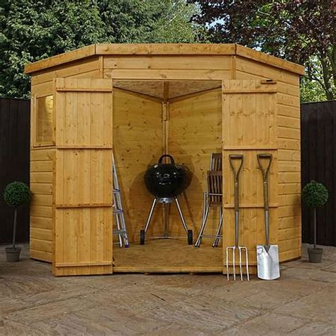 Shed 7 X 7 by 7 X 7 Waltons Tongue And Groove Wooden Corner Shed Waltons Sheds
