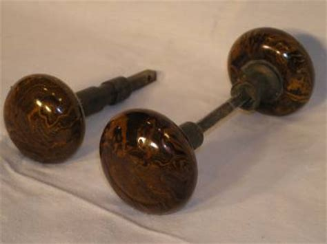 Antique Porcelain Door Knobs by Vintage Door Knobs Antique Porcelain Brown Marble Swirl 3