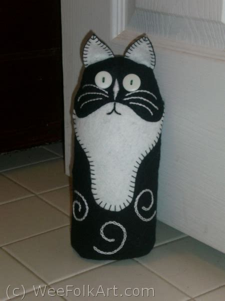 free sewing pattern cat doorstop cat doorstop 187 wee folk art