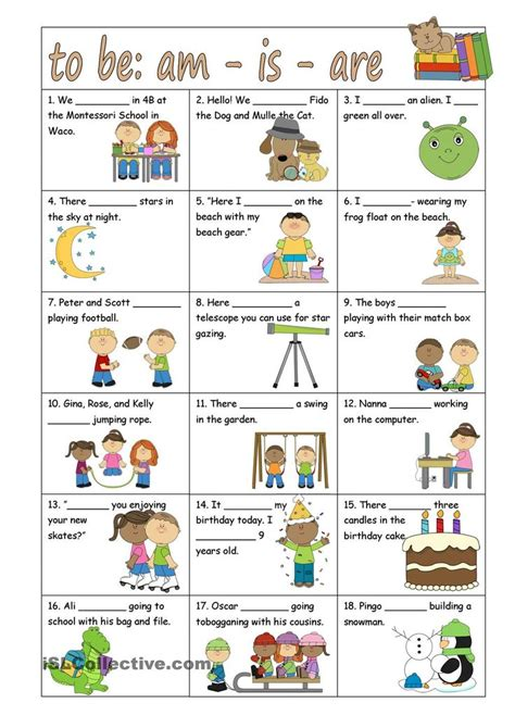 printable games with the verb to be worksheets one thousand sentence of simple present tense