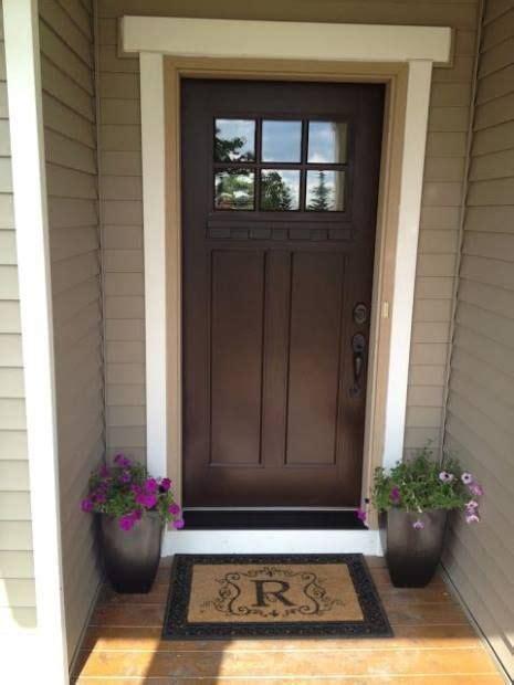 front door colors  tan house brown ideas