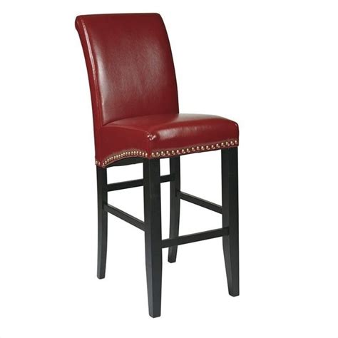 office star metro 30 quot swivel eco leather crimson red bar 30 quot eco leather parsons bar stool in red met8730rd