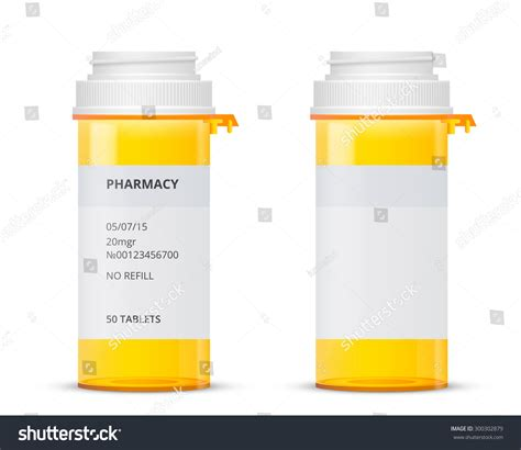 bottle of of prescription pill with labels template