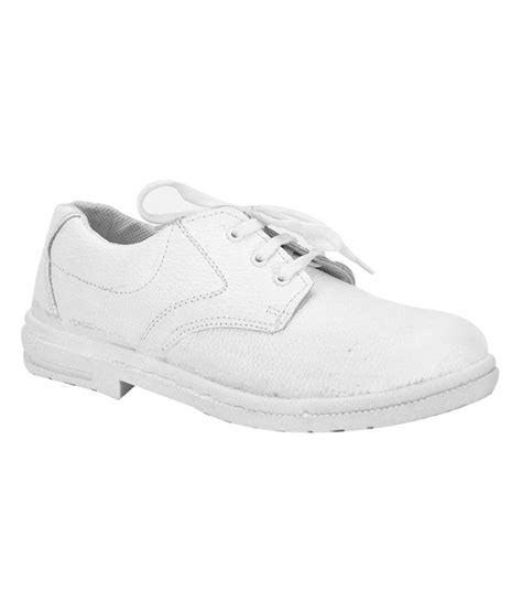 bahulla white leather safety shoe with steel toe price in