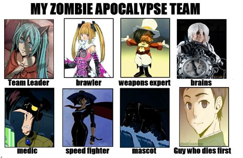 Zombie Apocalypse Team Meme - zombie apocalypse team know your meme