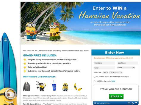Beach Sweepstakes - chiquita minion beach sweepstakes