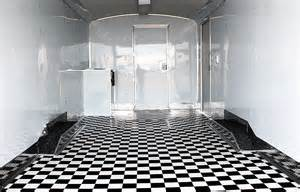 checkered vinyl flooring black and white mirage trailer